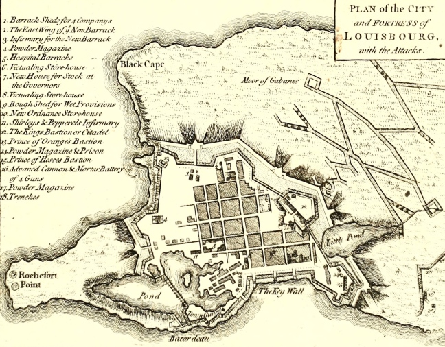 Louisbourg map